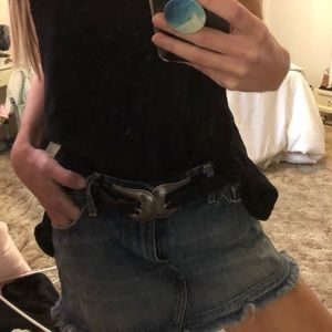 Abercrombie and Fitch Jean Mini Skirt size 2